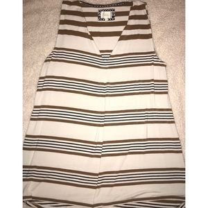 Anthropologie Striped Tunic Tank